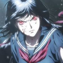 Blood-C Anime Film Strikes with a Pair of New Promos