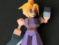 3D Printed Final Fantasy VII Figures Keep the Low-Poly Look