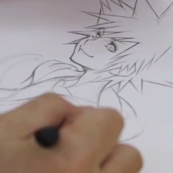Kingdom Hearts Director Sketches Sora