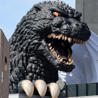 Godzilla's Head Adorns Tokyo Movie Theater, Hotel