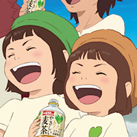 Boy and the Beast Characters Promote Green Dakara Drink