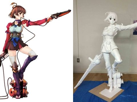 Kabaneri's Mumei Comes to Life with 1:1 Scale Figure