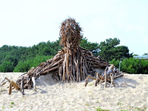 Nausicaa Monsters Rise from Debris at Japanese Beach