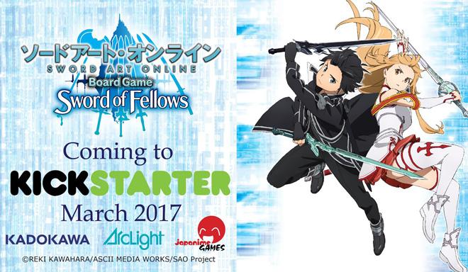 Sword Art Online Board Game Heads to Kickstarter This Month