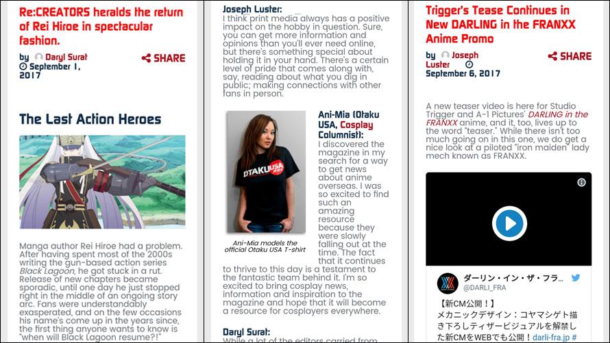 Otaku USA Online: Bigger & Better Than Ever!