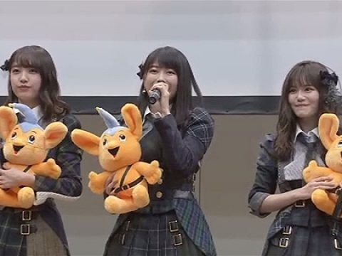 AKB48 Members Help Fight Online Crime at Akihabara Event