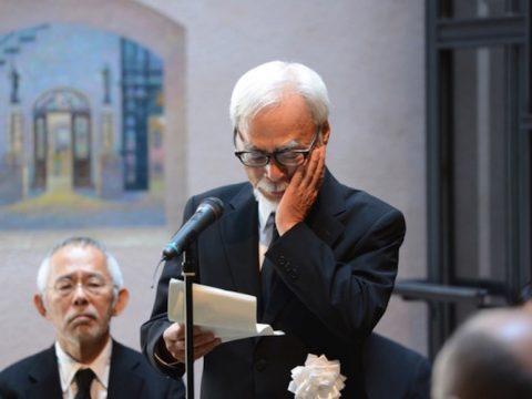 Hayao Miyazaki Delivers Eulogy at Isao Takahata Farewell Ceremony