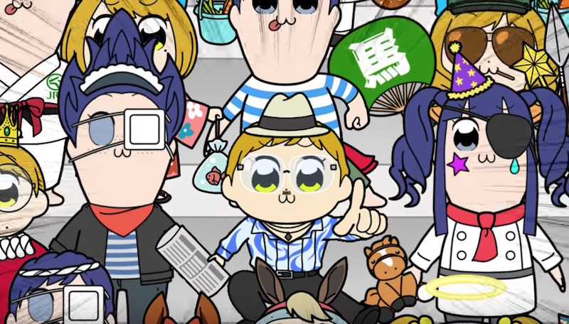 Pop Team Epic Hits the Racetrack with Bonus JRA Short