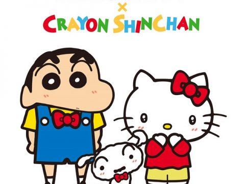 Crayon Shin-chan Helps Celebrate 45 Years of Hello Kitty