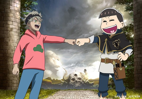 Mr. Osomatsu Crosses Over into the World of Black Clover Anime