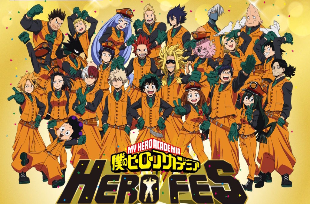My Hero Academia Anime's Heroes Are All Here for HERO FES Visual