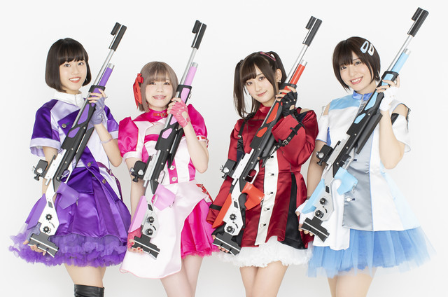 High School Girls Practice Marksmanship in Rifle is Beautiful Anime