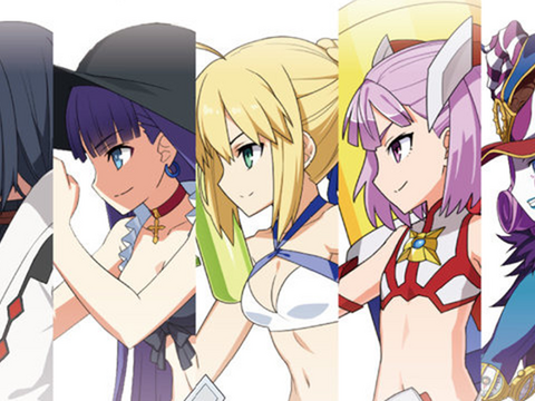 Fate/Grand Order Cast Hits the Beach in New Tabletop Game Figures