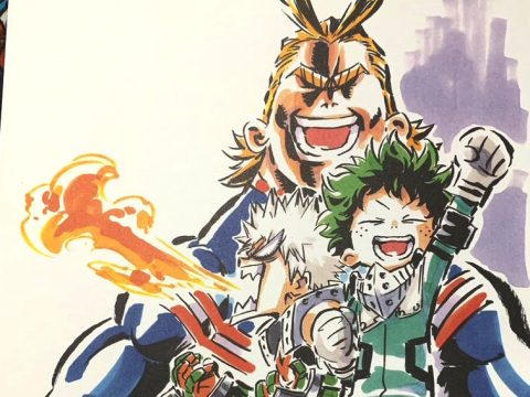 My Hero Academia Anime Character Designer Shares Awesome Live Drawings