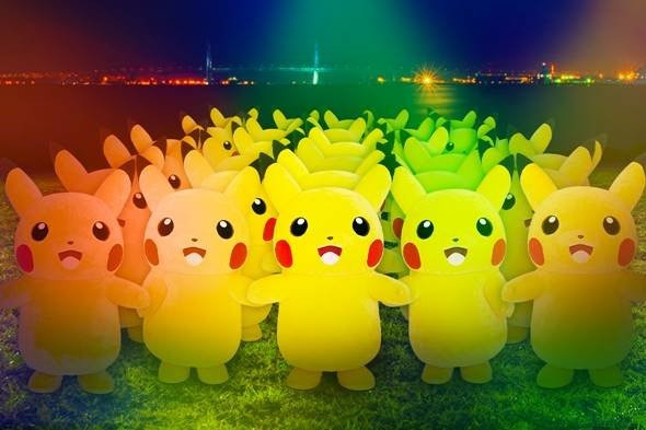 Army of Massive Pikachus Prepare for This Year's Outbreak