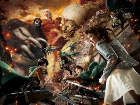 Attack on Titan Voice Actors Visit Attack on Titan Theme Park Attraction