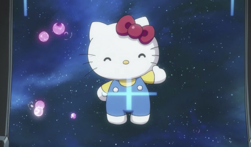 Hello Kitty is Fighting in a Gundam Space War Whether She Likes It Or Not