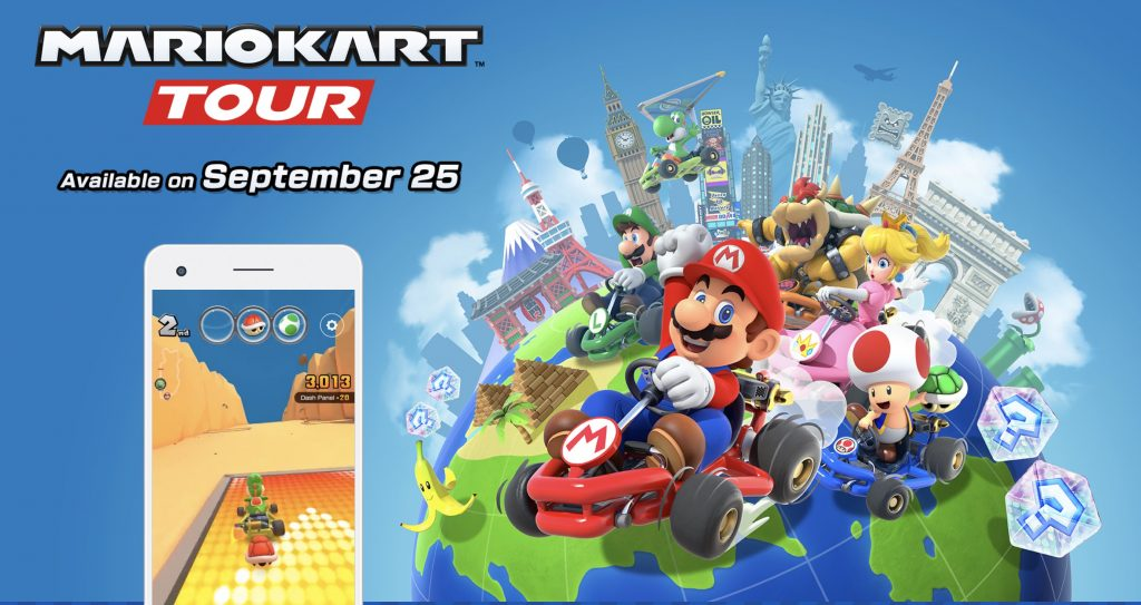 Mario Kart Tour Races onto Smartphones September 25