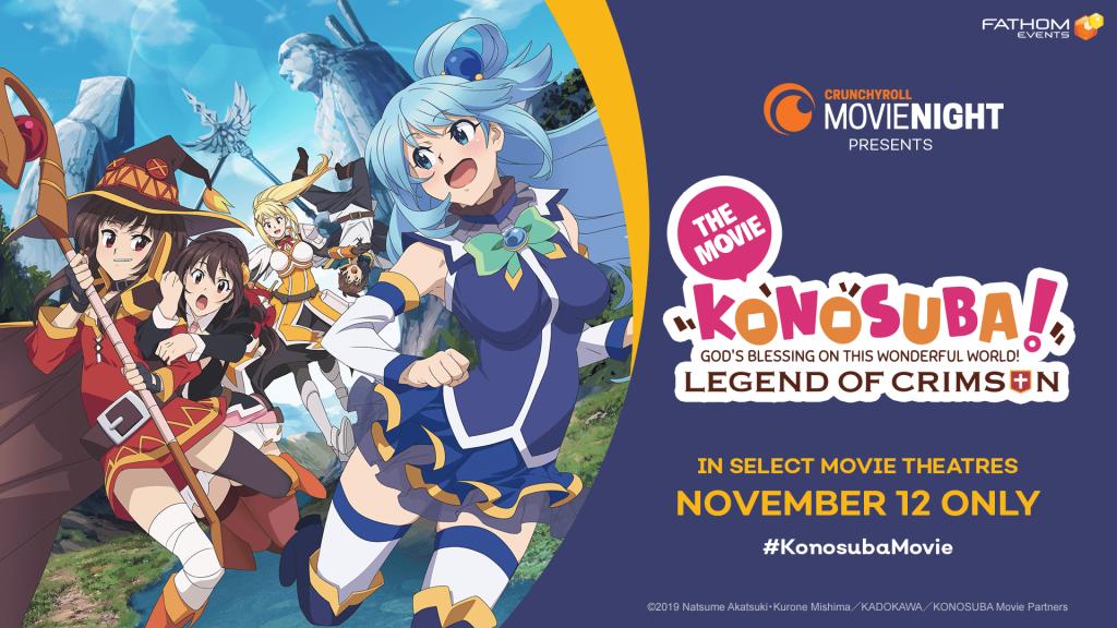 KONOSUBA Anime Film to Screen in the U.S. for One Night