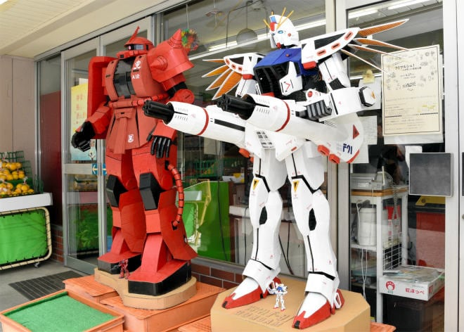 Japanese Grocery Store Features Cardboard Anime Models