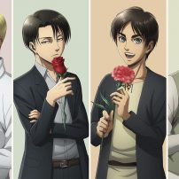 Attack on Titan Boys Get Rosy in Flower Shop Collab