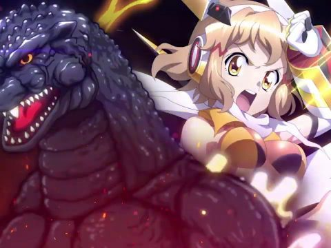 Godzilla Mixes It Up with Symphogear Anime in Smartphone Game Collab