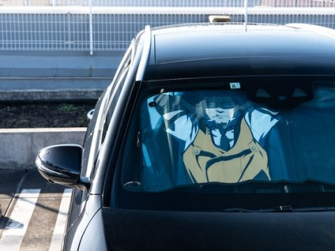 Protect Your Ride with Patlabor's Captain Goto Sunshade